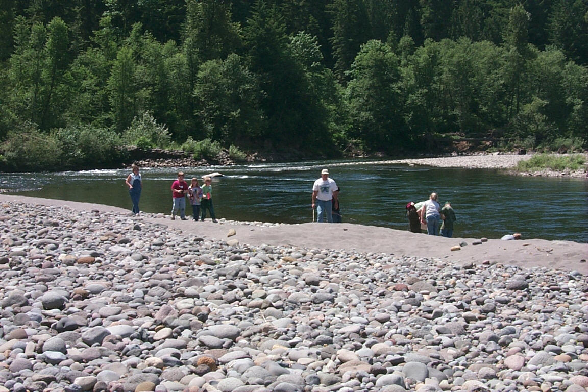 Studying the Sandy River